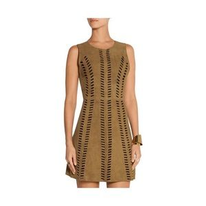 Maje NWT Perforated Suede Mini Dress